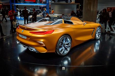 Frankfurt, Germany - September 12, 2017:  2017 BMW Z4 Concept presented on the 67-th Frankfurt International Motor Show(IAA) in the Messe Frankfurt
