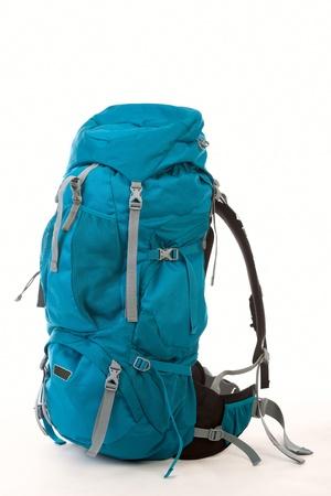 Hiking Backpack, isolated over white background Standard-Bild