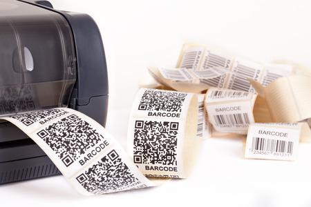 équipement: imprimante d'étiquettes code-barres Banque d'images