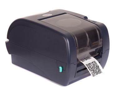 Code à barres imprimante d'étiquettes Banque d'images - 26037479