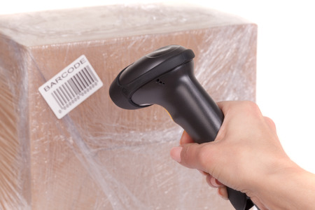 stocktaking: Scanning boxes with  barcode scanner