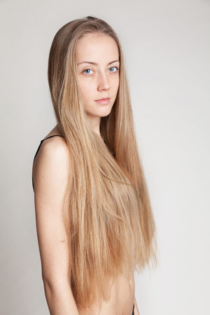 loose skin: Natural image without make-up and retouching.