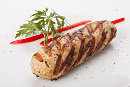 seekh: Grilled kebab Stock Photo