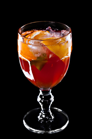 aperitive: Cocktail isolated on a black background