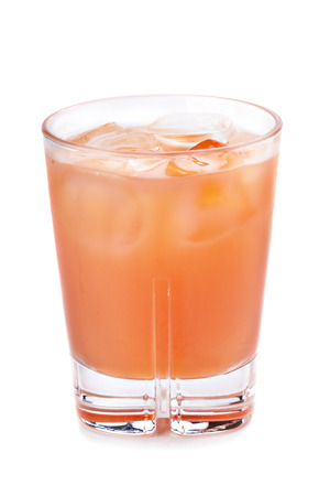 aperitive: Closeup of alcoholic cocktail isolated on a white background