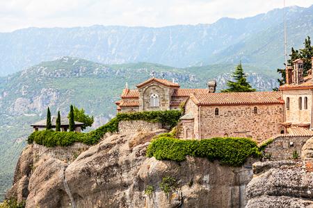 One of Meteora monasteries on the rocks of volcanic origin. Greece.