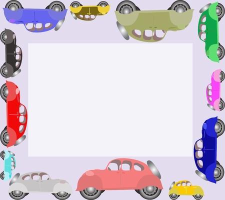 Cars around. Vector