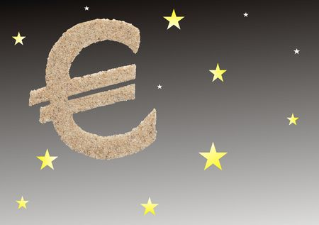 EURO IN THE STAR SKY Stock Photo - 6107902