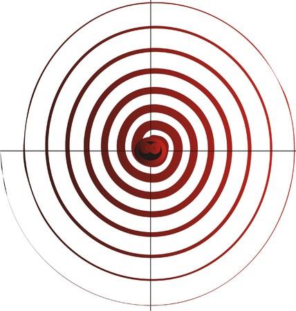 marksmanship: Funny target to marksmanship only.Vector illustration.