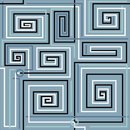 Labyrinth ist dies einfach Bild für Reflexion schwierige Aufgabe.Vektor-Illustration.