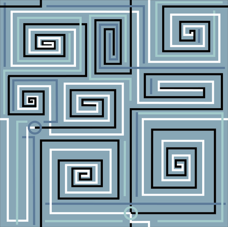 Labyrinth this is simple image for reflection difficult task.Vector illustration. Vector