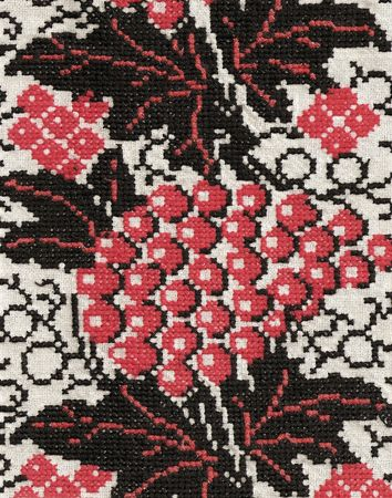 Ukrainian Folk design of art embroidery to interior. photo