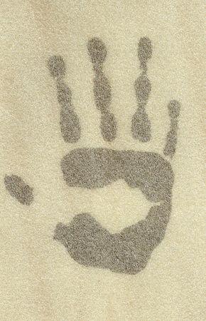 Black hand in the haze. photo