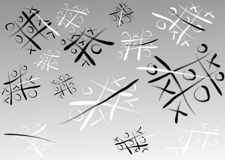 zeroes: Game of crosses and zeroes. Stock Photo