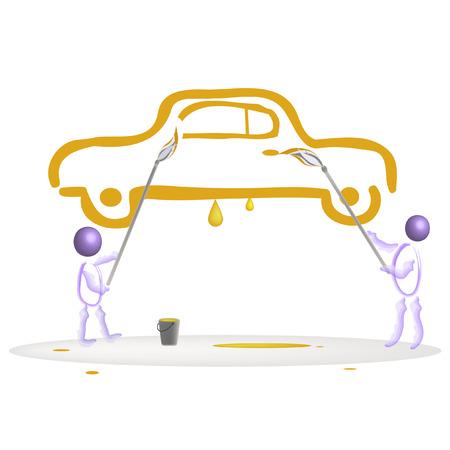 The drawn car. Stock Vector - 7666594