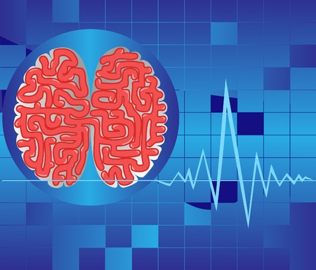 Display of a rhythm of activity of a brain Stock Vector - 7512509