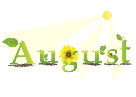 august: Vector illustration representing the concept of seasons
