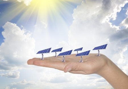 The concept of use for the household purposes of energy of the sun