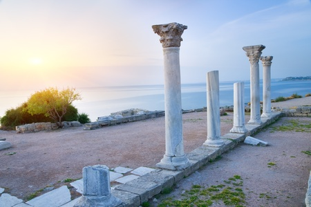 Ruins on sunset. Nature composition. Stock Photo - 11304820