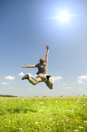 enjoy life: Jump to sky. Element of design