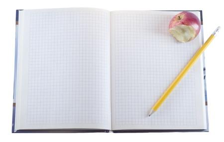 notebook isolated on white background photo