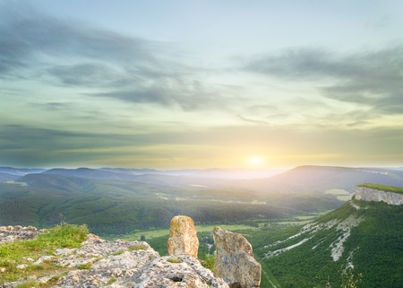 similar images preview: sunset in mountain. Composition of nature. Stock Photo