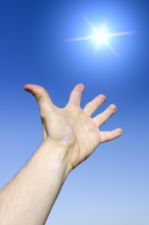 Reach to sun. Conceptual design. photo