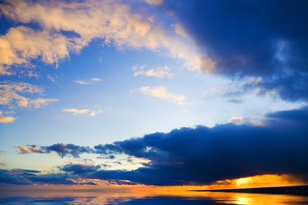 evening sky background  Composition of nature Stock Photo - 13264301