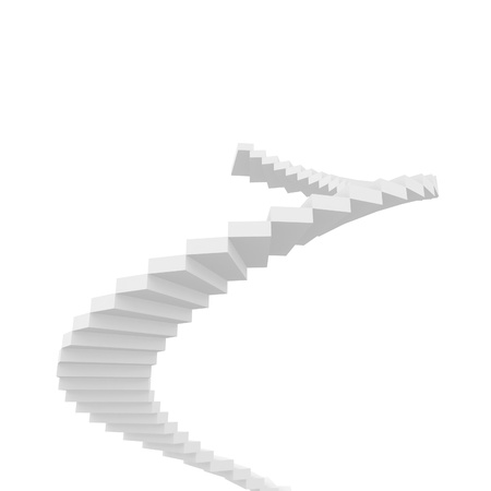 Staircase abstract conceptual 3D composition Stock Photo