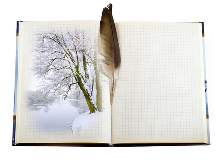 Blank page of note book on white isolate Stock Photo - 13524204