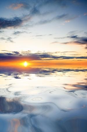ocean on sunset  Nature composition  Standard-Bild