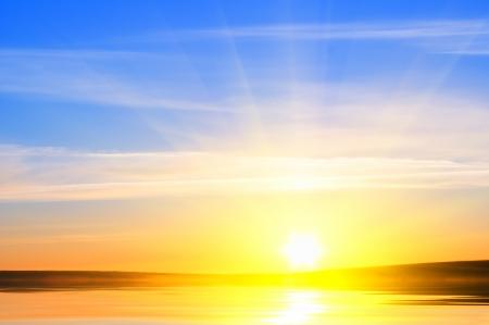sunrise over ocean  Nature composition  Standard-Bild