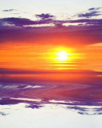 sea on sunrise  Nature composition  Stok Fotoğraf