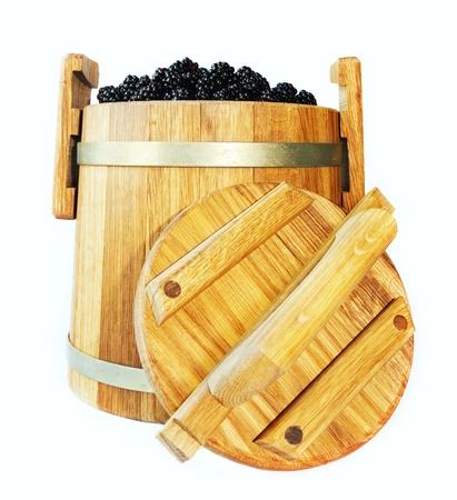 Oak butt with a blackberry crop photo