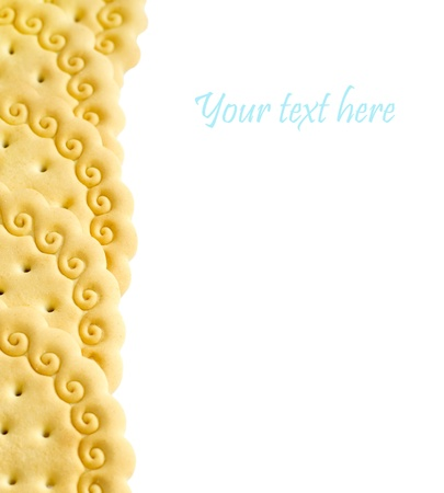 Cookies isolated on a white background.Food components photo