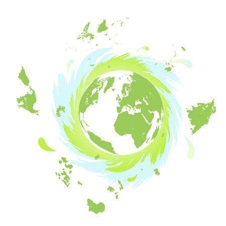 madre tierra: Madre Tierra que gira r�pidamente alrededor del eje Foto de archivo