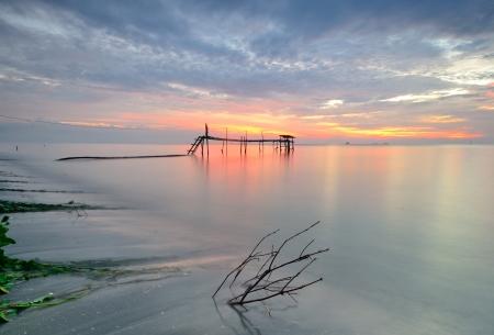 sunset pantai jeram,kuala selangor,malaysia Stock Photo - 18287501