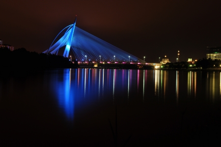 the colorful bridge of putrajaya,malaysia