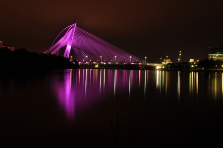 the colorful bridge of putrajaya,malaysia Stock Photo - 20688176