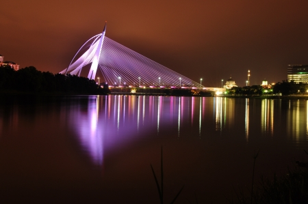 the colorful bridge of putrajaya,malaysia Stock Photo - 20688177