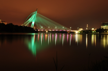 the colorful bridge of putrajaya,malaysia Stock Photo - 20688178