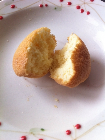 The picture of soft and tender cup cake bahulu