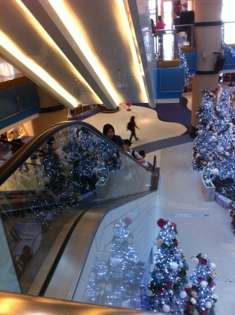 �rbol de Navidad del centro comercial.