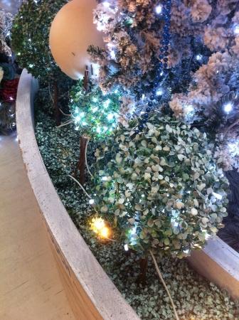 Feliz Navidad de luz Decoraci�n del �rbol. Foto de archivo