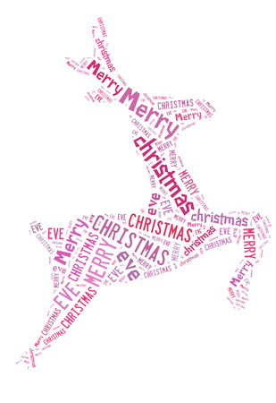 Reindeer shape with text  Stock Photo