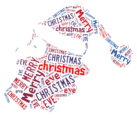 Santa claus shape with text