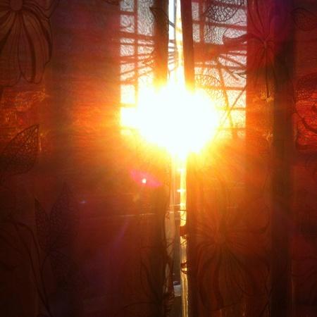 Puesta del sol vista desde el balc�n.