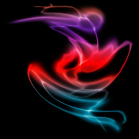 Ola de humo colorido abstracto (fondo de humo) Vectores