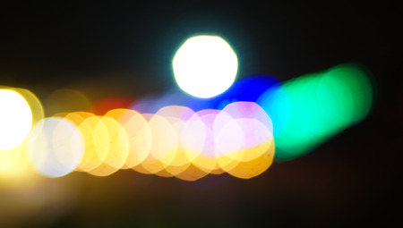 Abstract blur lights bokeh.