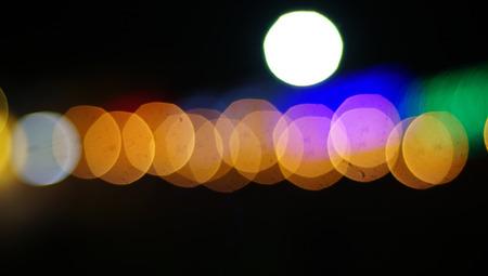 Abstract circular bokeh background.